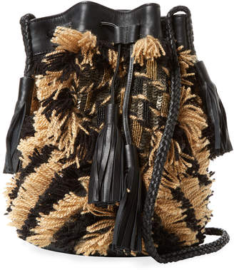 Antik Batik Arteos Cotton Fringe Bucket Bag
