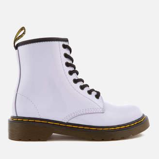 Dr. Martens Kids' Delaney Patent Lamper Leather 8-Eye Lace Up Boots