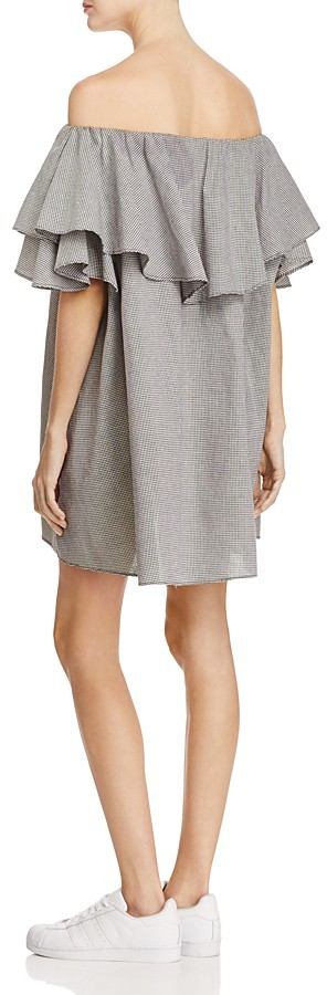 MLM Label Maison Gingham Off-the-Shoulder Ruffle Dress 2