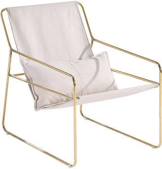 BEIGE Sagebrook Home Gold-Tone & Sling Chair