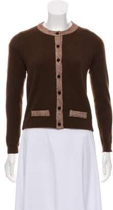 Blumarine Button-Up Knit Cardigan Brown Button-Up Knit Cardigan