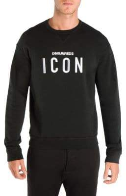 DSQUARED2 Men's Icon Cotton Sweatshirt - Black - Size Medium