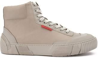 Both hi-top sneakers