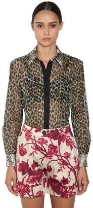Antonio Marras Leopard & Python Print Chiffon Shirt