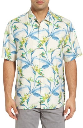 Men's Big & Tall Tommy Bahama Porto De Paradise Silk Sport Shirt $148 thestylecure.com