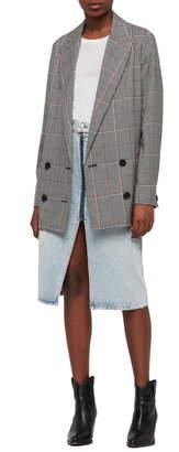 AllSaints Helei Check Oversize Blazer