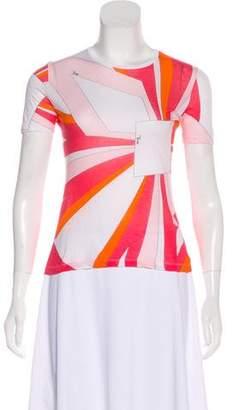 Emilio Pucci Geometric Print Short Sleeve T-Shirt
