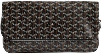 Goyard Brown Cloth Clutch Bag