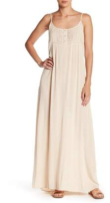 Love Stitch Button Detail Maxi Dress
