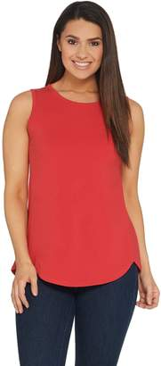 Denim & Co. Essentials Tulip Hem Knit Tank with Forward Seams