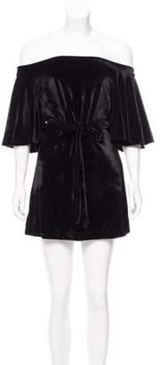 MLM Label Off-The-Shoulder Velvet Dress w/ Tags Black Off-The-Shoulder Velvet Dress w/ Tags