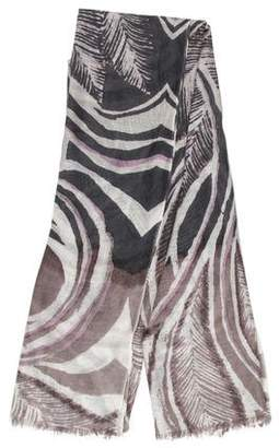 Kinross Cashmere Cashmere and Silk-Blend Printed Scarf