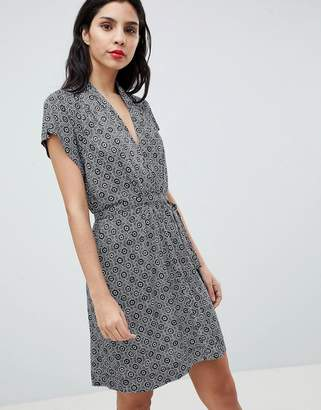 French Connection Medina Til Print Tie Waist Dress