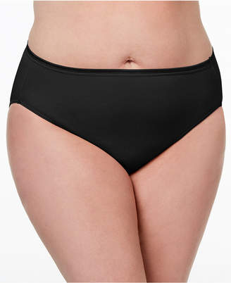 Vanity Fair Women's Illumination Plus Size High-Cut Satin-Trim Brief 13810