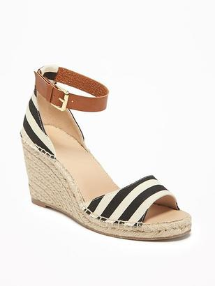 Striped Ankle-Strap Espadrilles for Women $36.94 thestylecure.com