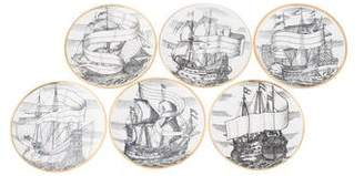 Fornasetti Set of 6 Ceramic Coasters