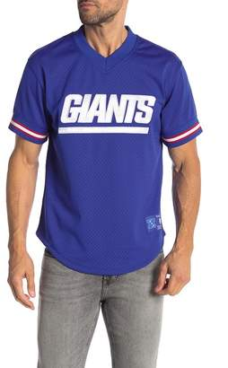 Mitchell & Ness New York Giants Mesh V-Neck Tee