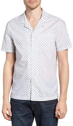 Michael Bastian Slim Fit Print Camp Shirt