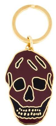 Alexander McQueen Enamel Skull Keychain