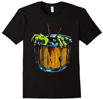 Monster Drummer Rock Drum Tattoo Funny T-Shirt