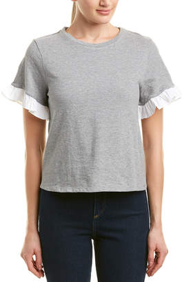 ENGLISH FACTORY Ruffle Sleeve Top