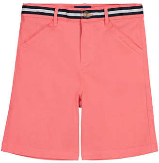 Andy & Evan Mock Belted Twill Shorts, Size 2-6X