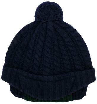 Gucci Kids Web knitted bobble hat