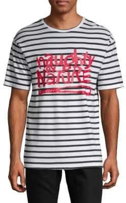 Eleven Paris Graphic Striped Cotton Tee