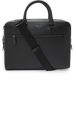 Michael Kors Harrison Front Zip Leather Briefcase