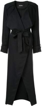 GOEN.J frayed edges midi coat