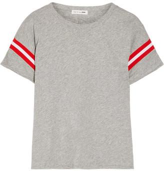rag & bone - Vintage Striped Cotton-jersey T-shirt - Light gray $95 thestylecure.com
