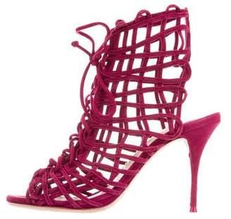 Sophia Webster Suede Cage Sandals