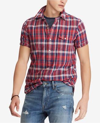 Polo Ralph Lauren Men Big & Tall Classic Fit Cotton Madras Shirt