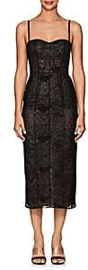 J. Mendel Women's Lace Fitted Cocktail Dress-Black