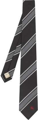 Burberry Slim Cut Striped Silk Jacquard Tie