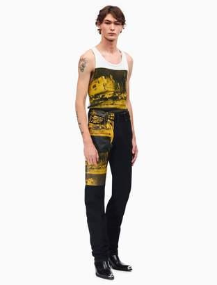 Calvin Klein car crash high-rise straight leg jeans