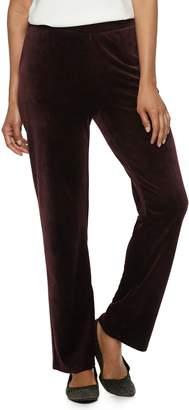 Dana Buchman Women's Pull-On Velour Pants