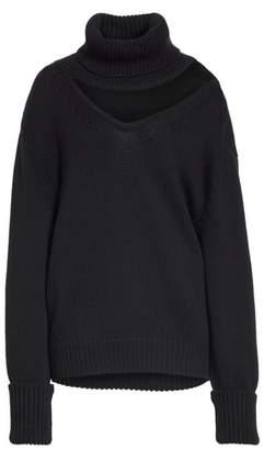 Monse One-Shoulder Cutout Wool Sweater