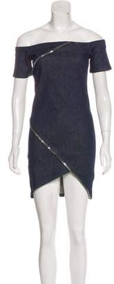 RtA Denim Zipper-Accented Mini Dress w/ Tags
