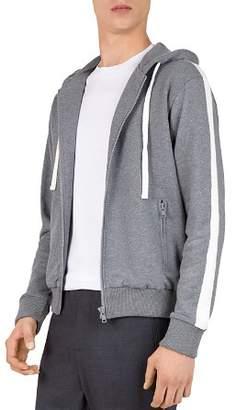 The Kooples Stripe-Sleeve Hoodie
