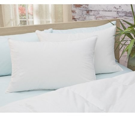 Amberly Bedding 650 Fill Power White Down Pillow - Medium Fill Standard Size Twin Pack