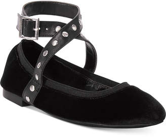 Charles by Charles David Dean Velvet Studded Flats Women Shoes