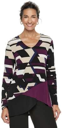 Dana Buchman Women's Travel Anywhere Asymmetrical Tunic