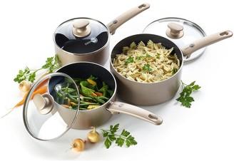 Green Pan Cambridge Bronze 3-Piece Saucepan Set