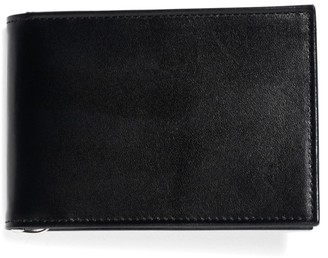 Brooks Brothers French Calfskin Slim Wallet with Money Clip