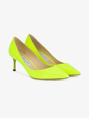 Jimmy Choo neon yellow Romy 60 leather pumps