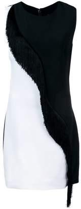 Cushnie et Ochs colour block fringed dress