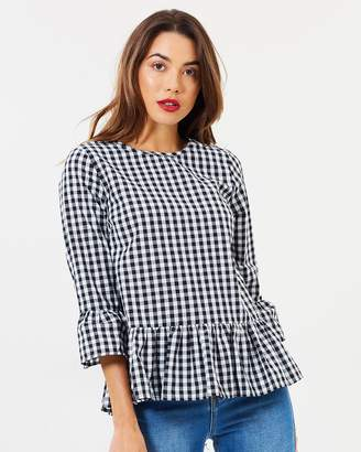 Atmos & Here ICONIC EXCLUSIVE - Rebecca Gingham Top