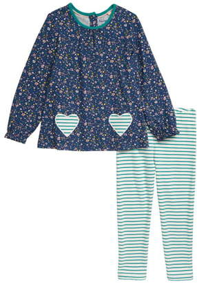Boden Mini Ditsy Floral Jersey Long Sleeve Top & Leggings