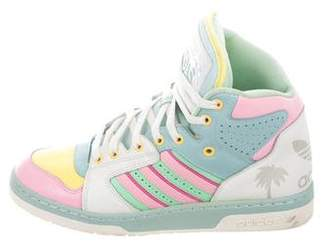 premium selection 0d1ef 39ef9 Jeremy Scott x Adidas Js License Plate Miami High-Top Sneakers